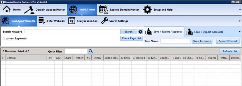 domain hunter gatherer web 2.0 hunter