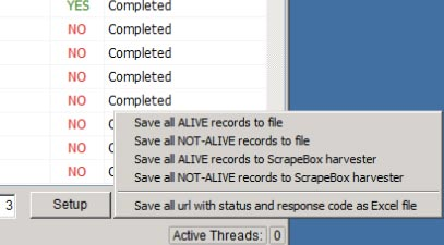 save all alive records for scrapebox harvester