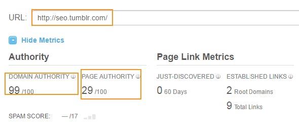 using tumblr for backlinks