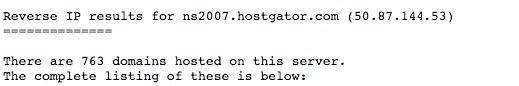 hostgator nameserver