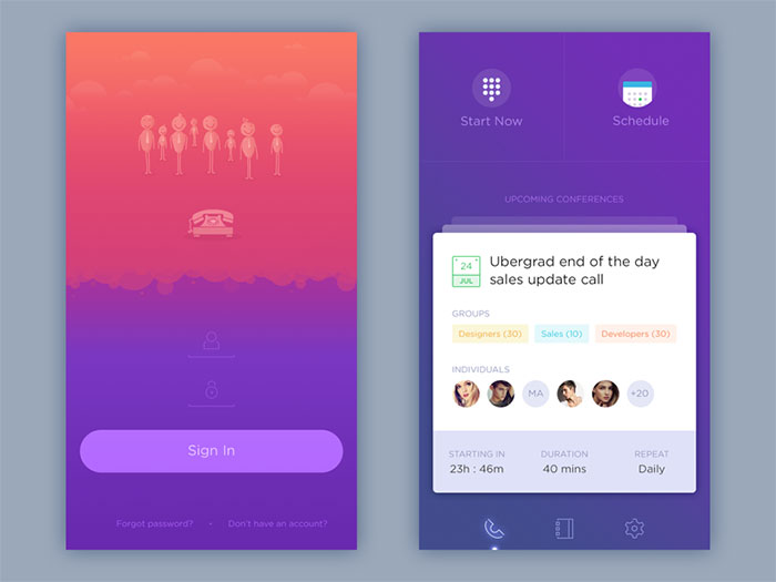 UI design example